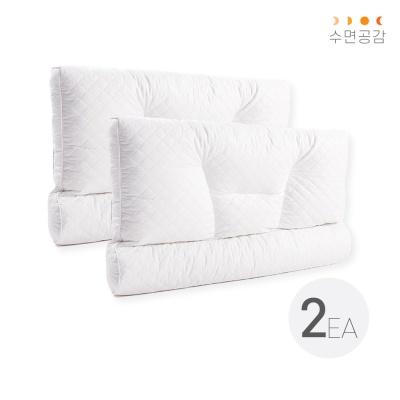 [수면공감] 우유베개 라텍스 기능성 경추 베개 (2EA)