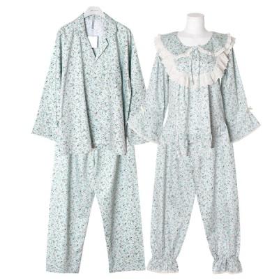 [쿠비카]잔잔한 플러럴 모티브 투피스 커플잠옷 WM288