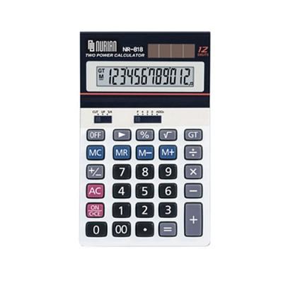 누리안 일반용 계산기 NR-818/12자리/메모리계산/MU계산/GT기능/루트계산