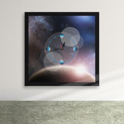iz229-우주공간 액자벽시계_디자인액자시계