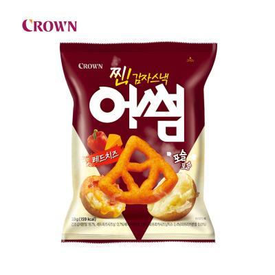 크라운 찐 감자스낵 어썸 레드치즈 x12개