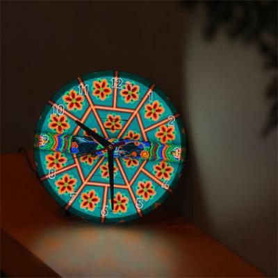 nf287-LED시계액자25R_전통의아름다움(단청)