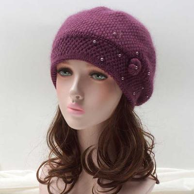 Mujer Invierno knit 진주방울 모자 4color CH1652183
