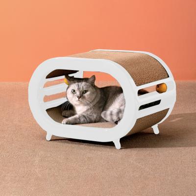 펫트리움 스크래쳐 하우스 고양이용 숨숨집 캣하우스