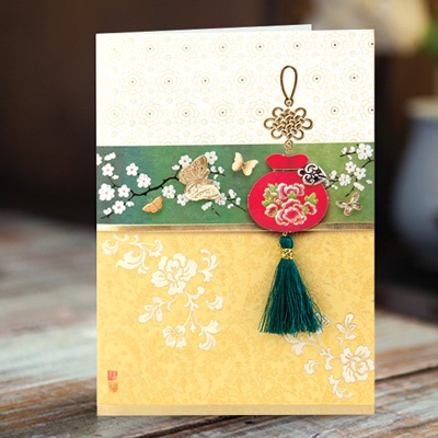 카드/축하카드/감사카드/연하장 백전백승 복주머니 FT223-4