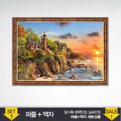 1000조각 직소퍼즐▶ 바닷가등대+앤틱골드 HP1010s