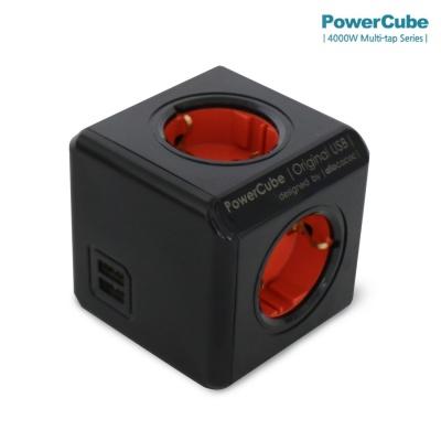 컬러파워큐브 멀티탭2.0 오리지널USB 4구(C1250)