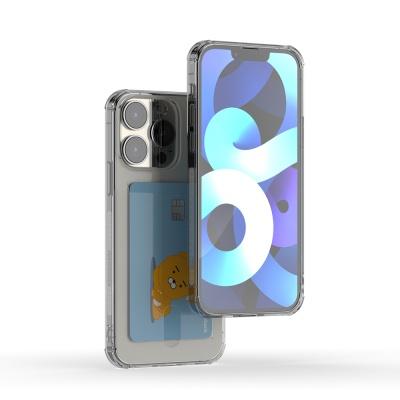 아이폰 13 pro 아이스핏 에드온 TPU 투명 카드 케이스