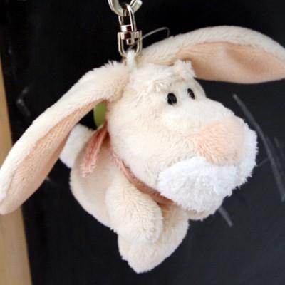 빈백키링-토끼( 별모양키링)8센티-크림