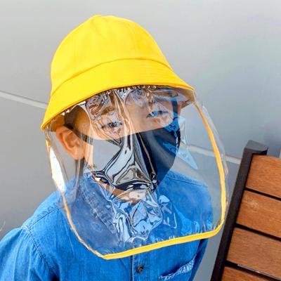 안면보호 모자 벙거지 마스크 아동용 (옐로우)