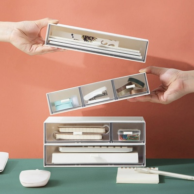 PH 적층이 가능한 화장품 소품 수납 정리함