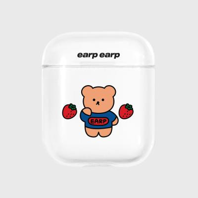 strawberry bear-clear(Air pods)