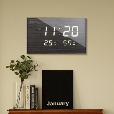 루나리스 FM수신 온습도  LED 전자벽시계 JS-i34