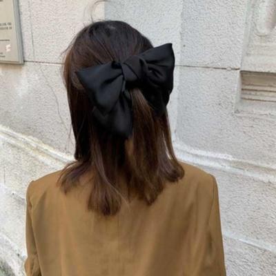 귀여운 왕리본 헤어 액세서리 머리핀 삔 선택 블랙