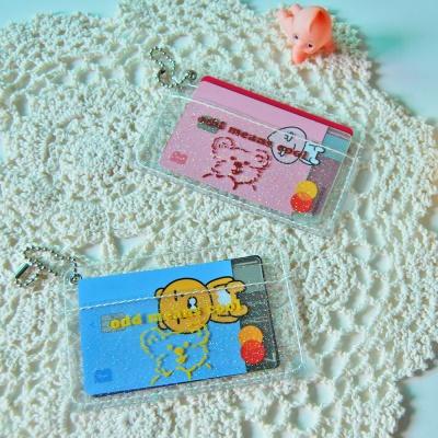 투명 글리터 PVC 카드첩(2종)