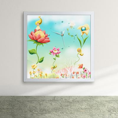 iw064-요정들의꽃타고바람타고액자벽시계_디자인액자시계