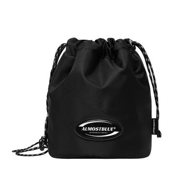 [얼모스트블루] RUBBER LOGO MINI BUCKET BAG