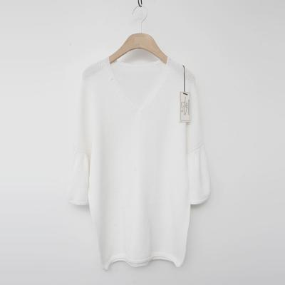 Maille Wool V-Neck Puff Sweater - 7부