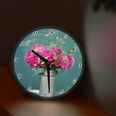 nf253-LED시계액자25R_아름다운꽃과화병
