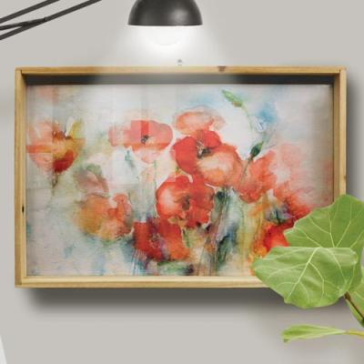cr760-우드프레임액자_금전운수채화양귀비꽃(대형)