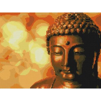 인자한 부처님 (캔버스형) 보석십자수 30x40