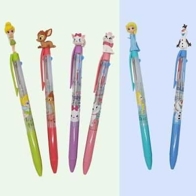 디즈니 올라프 팅커벨 밤비 마리 캐릭터 0.5 3색 볼펜