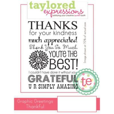 스탬프 Graphic Greetings Thankful