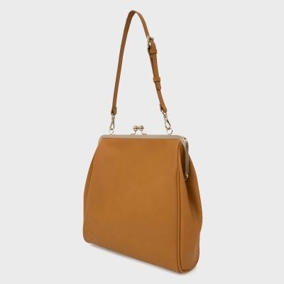[펀프롬펀]Olsen frame big bag (camel)