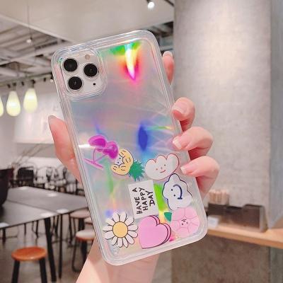아이폰SE2 11 PRO MAX XR XS 8 아쿠아 홀로그램케이스