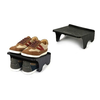 더블형 신발정리대-블랙 공간활용 2족