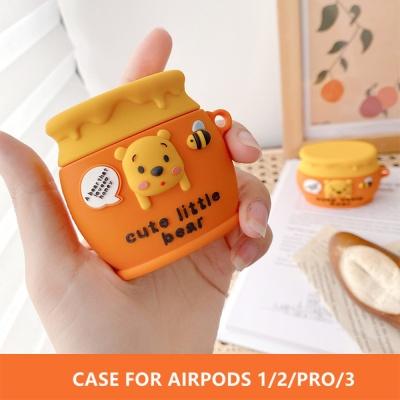 에어팟 프로/2/1 꿀단지 곰돌이 캐릭터 실리콘 케이스
