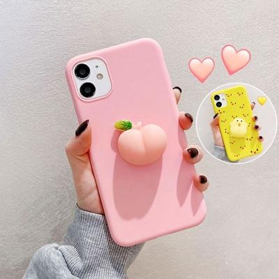 아이폰12 MINI 11 PRO MAX 병아리 복숭아 모찌 케이스