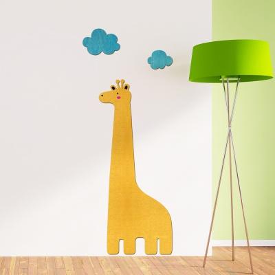 [우드스티커] 기린과구름 (컬러완제품) W546