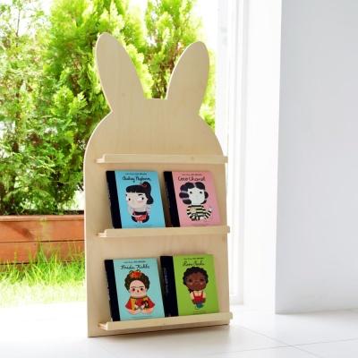 [꼬메모이]리틀라핀 전면책장 / 유아 가구 놀이 책장