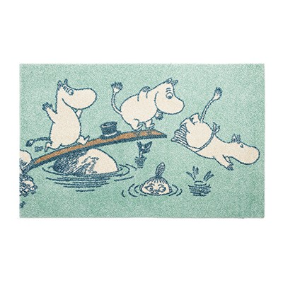 러그 moomin rug diving mint