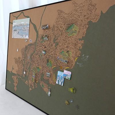 지구별 여행스케치  부산지도 - 빈티지