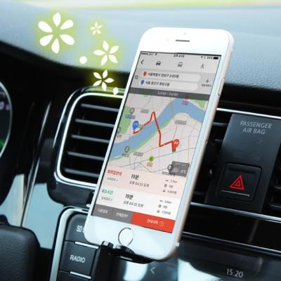 차량용 스마트폰 거치대 와 방향제를 하나로! 1석2조 알로이거치대