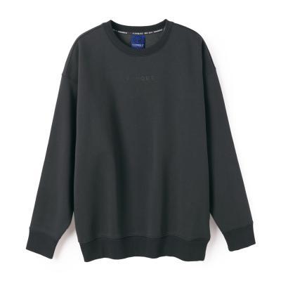 [벤크] 아무 네온 스웨트 셔츠 차콜블랙