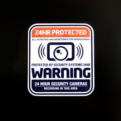 [율스] 블랙박스 24 감시스티커 (ORG)