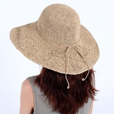 라피아햇 유행 와이어 파나마햇 휴양지 모자 베이지