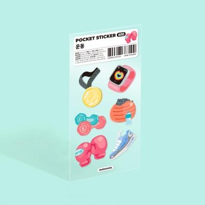 모트모트 포켓 스티커 - 운동