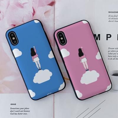 아이폰7플러스 골드리치 구름 카드케이스