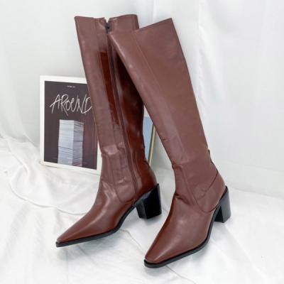 JM-773_1 여성 미들 롱 웨스턴 부츠 5cm