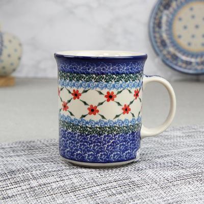 폴란드그릇 아티스티나 일자머그 400ml 패턴1494