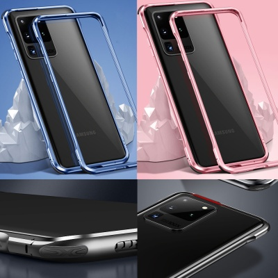 아이폰xs max xr 7 8+  야광 메탈 범퍼 핸드폰케이스