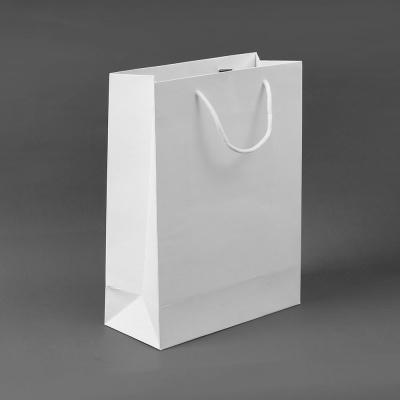 무지 세로형 쇼핑백(화이트) (25x33cm)