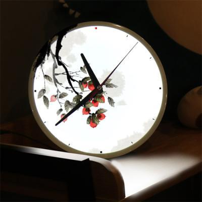 nf423-LED시계액자25R_길운의감나무그림