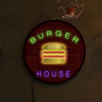 no169-LED액자35R_햄버거하우스