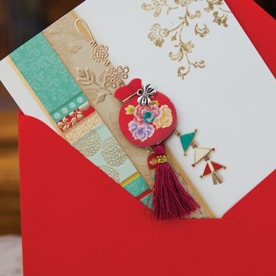 카드/축하카드/감사카드/연하장 만복 복주머니 FT223 Set123 (3종 한세트)
