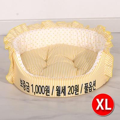 논슬립 폭신한 애견 쿠션 월세 원방석 옐로우 XL